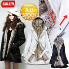 Trench Parka Winter Warm SlimCoat 2 IN1 Removable Fleece Jacket Overcoat Casual