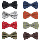 Внешний вид - Men Women Casual Point Stars Cross Bowtie High Quality Cotton Adjustable Bow Tie