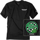 Factory Effex Licensed Kawasaki Team Green T-Shirt Black Mens All Sizes