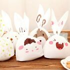 50pcs Rabbit Ear Cookie Biscuit Candy Gift Bag Cute Cartoon Party Decor XHH8053