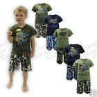 Boys Camo Shorts Set T Shirt Camouflage Shorts Army Tank Aircraft * Last Few *
