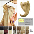 Women 22'' 100% Human Hair Invisible Wire Headband Human Straight Hair Extension