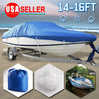 "14 15 16 ft Waterproof Fishing Ski Bass Trailerable V shape Boat Cover 90"" Beam"