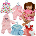 "12-16"" New Born Baby Doll Outfits Baby Dolls Clothes Romper Pink Dress"