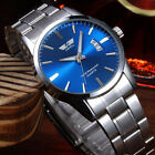 New Men's Watch Stainless Steel Band Date Analog Quartz Sport Wrist Watch PHNG