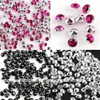 1000x Pointed Resin Rhinestone Glitter Beads Sticker For Decor Craft DIY Making