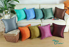 CaliTime Cushion Throw Pillows Cover Faux Silk Striped Dyed Various Sizes Colors