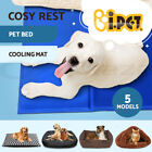 Pet Cool Gel Mat Dog Cat Bed Non-Toxic Cooling Dog Summer Pad 5 Sizes FREE POST