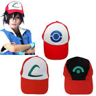 Unisex High Quality Ash Ketchum Pokemon Cap Embroidery Hat Cosplay Costume GIfts