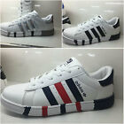 New fashion men's leather casual shoes breathable sneakers