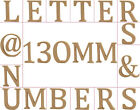 Large 130mm Wooden MDF Capital & Lowercase Letters, Numbers & Symbols