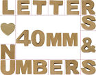Mini 40mm Paper Mache Letters, Numbers, Symbols & Shapes