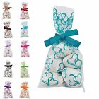 25-100 Hearts Wedding Party Sweets Candy Cellophane Favours or Gift Goody Bags