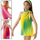 NEW 'On your Shore' Watercolor Lyrical Dance Skating Competition Costume Dress