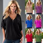 Sommer Damen Locker Freizeit Kurzärmelig Sexy Shirt Tops Bluse Damen T-shirt Top
