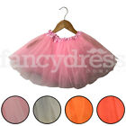 Girls Childrens Fancy Dress Accessory Tutu Skirt Childs Ballet Party 3 Layer NEW