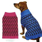 CHOOSE SIZE & COLOR - Zack & Zoey - COLOR TWIST - DOG PUPPY SWEATER - PINK BLUE