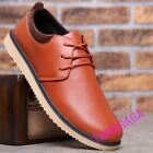 Fashion Mens Casual Lace Up Flats Business Dress Shoes Low Top Leisure Shoes New