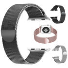 For Apple Watch 1 2 3 4 Stainless Steel Band Milanese Magnet Clasp Loop iWatch  image