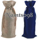 """5 x Wine Bottle Gift Bags Tote Cover Pouch/Wedding Party Thanks Shower X""""mas"""