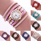 Women's Watch Stainless Steel Bracelet Braided Leather Fashion Quartz WristWatch