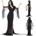 CA24 Immortal Soul Vampire Morticia Witch Costume Womens Halloween Fancy Dress
