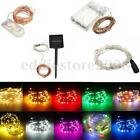 1/2/3/4/5/10M Battery/Solar/12V LED MICRO Silver Copper Wire String Fairy Lights