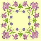 Anemone Quilt Squares #4 Singles-DESIGN 6-Machine Embroidery Design in 4 sizes