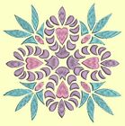 Anemone Quilt Squares #5 Singles-DESIGN 6-Machine Embroidery Design in 4 sizes