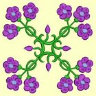 Anemone Quilt Squares #6 Singles-DESIGN 9-Machine Embroidery Design in 4 sizes