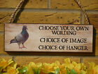 PERSONALISED DOVECOTE SIGN PIGEON LOFT SIGN YOUR OWN WORDING SIGNS PIGEON GIFTS