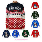 NEW CHILDRENS KIDS WINTER JUNIOR XMAS PENGUIN SNOWMAN JUMPER KNITTED SWEATER
