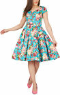 Floral Vintage 1950's Full Circle Rockabilly Party Bridesmaid Swing Prom Dress