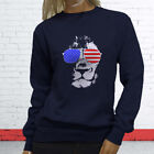American Lion Independence Fourth Of July Top Day Womens Navy Sweatshirt