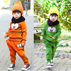 Baby Boys Girls Kids Frog Long Sleeve Clothes T-shirt+ Pants Sportswear Outfits