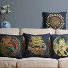 Dragon Phoenix Throw Pillow Case Home Decor Cushion Cover Square Wedding Gift