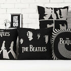 Black The Beatles Creative Decor Throw Pillow Case Cushion Cover Square Linen