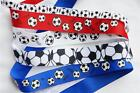 "5Yd Mix Lot - Size Soccer Theme 3/8"" & 7/8"" Grosgrain Ribbon (K126)"