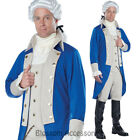 CA49 George Washington Colonial Historical USA American President Mens Costume
