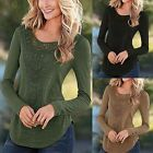 Womens Ladies Loose Long Sleeve Lace Tops T-shirt Crochet Blouse Shirt Tee