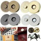 18mm Magnetic Clasp Purse Snaps Closures Round Sewing Button Bag Press Studs MM
