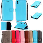 Lanyard Magnetic Flip stand Card Leather wallet Case Cover For Sony Xperia