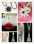 Lot Style Fashion Shiny Resin Chain Necklace Lady Charm Sweather Chain Jewelry
