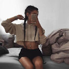 New fashion chic Mini loose plus pullover hoody crop tops casual sweatshirt tops