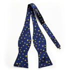 PenSee Mens Self Bow Tie Exquisite Woven Silk Classic Stars Bowtie-Various Color