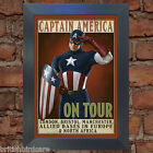 CAPTAIN AMERICA ON TOUR Comic Poster Reproduction Vintage Wall Art Print #5