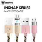 Baseus Magnetic Micro USB Adapter Data Charging Cable For iPhone 6 7 7+  Samsung
