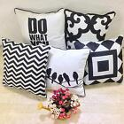2016 New Cotton Canvas Geometric Patterns Pillow Cove Pillowcase 45*45