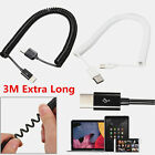 Universal 3M Over 2A Quick Spring Spiral USB 3.1 Type C Sync Date Charger Cable