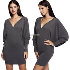 Sexy Women Cocktail Party Dress Spandex Short Gray Casual Lady's Stretch Dress